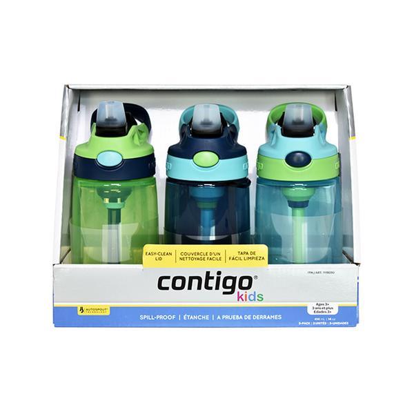 Contigo 康迪克 儿童吸管杯防漏运动水杯 男孩 3支/套 【保税】