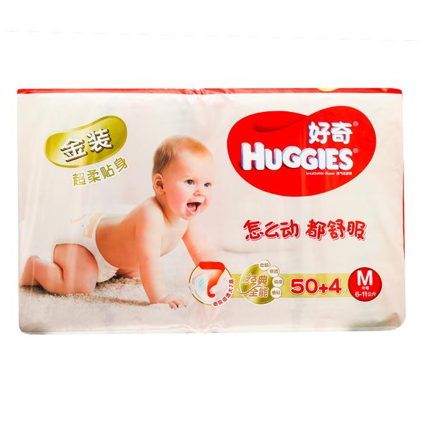 好奇 好奇金装超柔贴身透气纸尿裤 M 50+4片