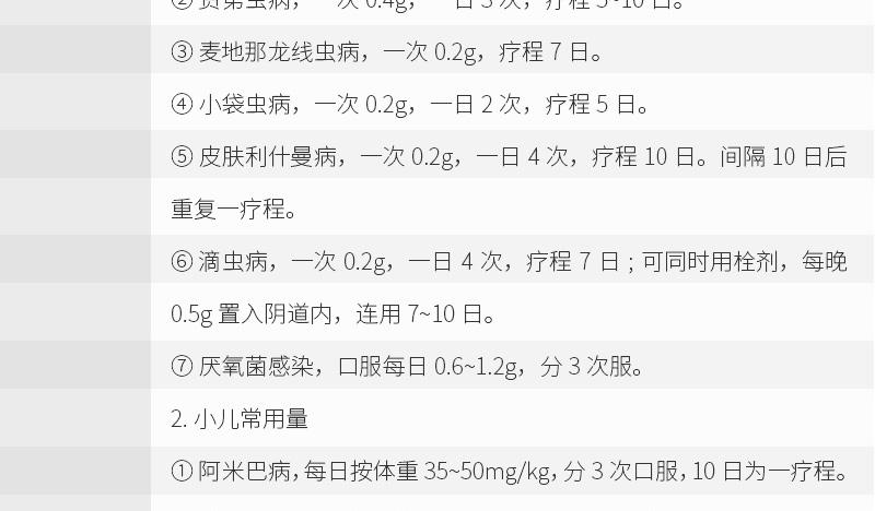 远大 甲硝唑片 0.2g*100s