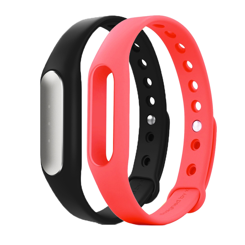 小米MI运动手环光感版 +玫红色腕带