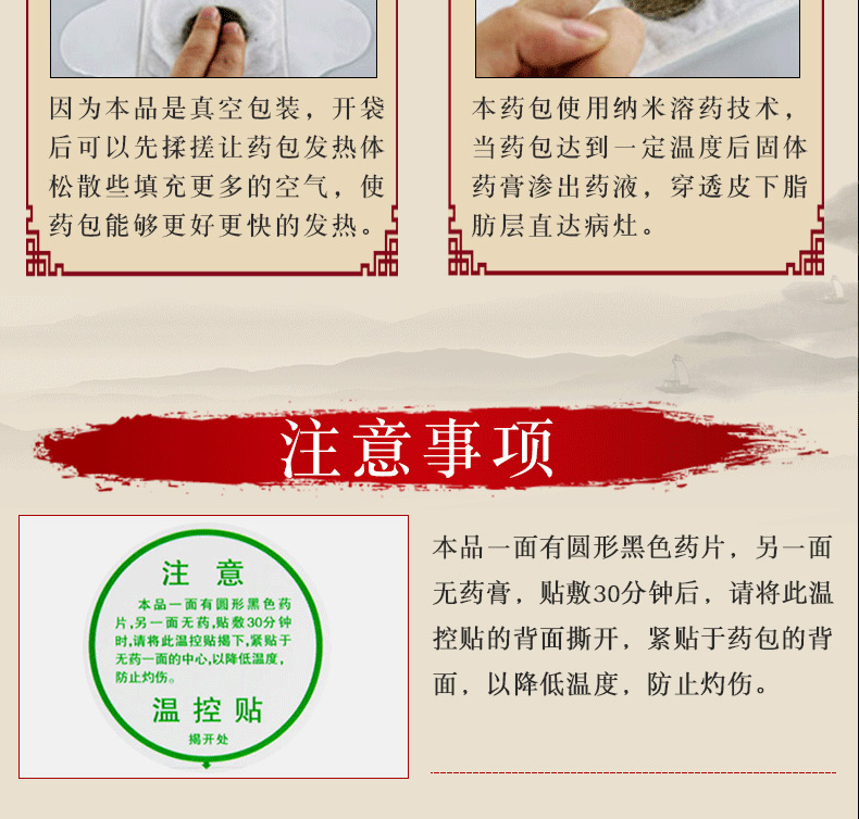 久火 镇痛灸(II型) 2贴 中国灸武汉国灸贴膏
