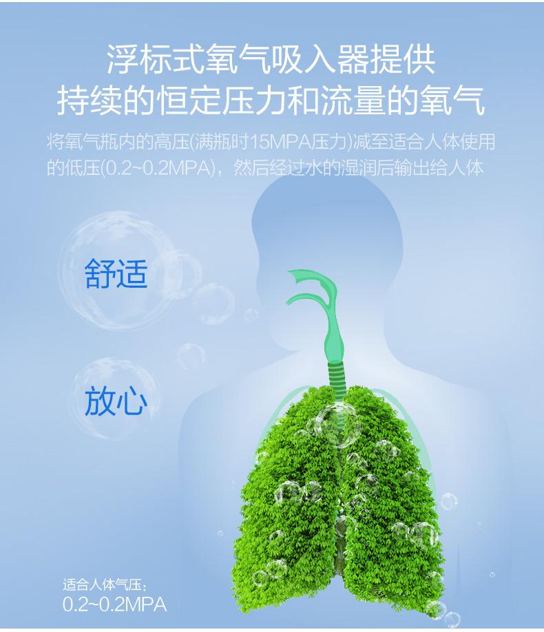鱼跃 浮标式氧气吸入器 XY-98BⅢ 氧气瓶流量压力表吸氧器具