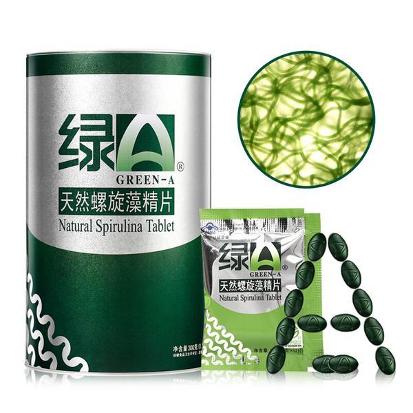 绿A 绿A天然螺旋藻精片 300g(0.5g*6s*100袋)