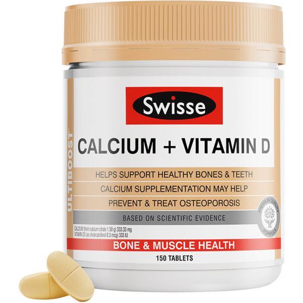 Swisse 钙+维生素D 复合片 孕妇老人补钙 罐