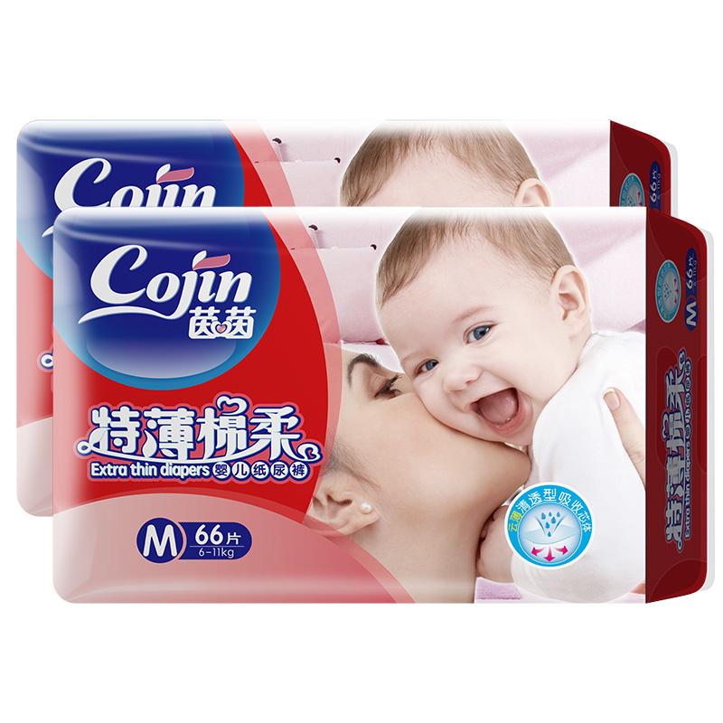 茵茵 茵茵特薄绵柔婴儿纸尿裤 M 132片