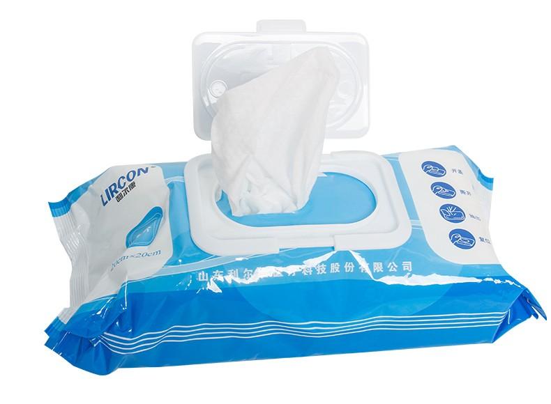 利尔康 利尔康一次性医用消毒湿巾 80片装 清洁杀菌 不含酒精 家用日常清洁消毒湿巾