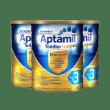 澳洲直邮 进口Aptamil爱他美金装婴幼儿牛奶粉 三段 900g*3罐