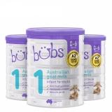 澳洲直邮 进口Bubs贝儿婴幼儿羊奶粉1段 800g*3罐