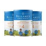 澳洲直邮 进口Bellamy's贝拉米有机奶粉 四段 900g*3罐