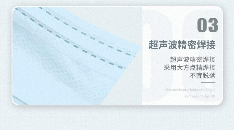 口罩100只 一次性无纺布口罩(民用)17cm*9.5cm*100 袋装非纸盒装